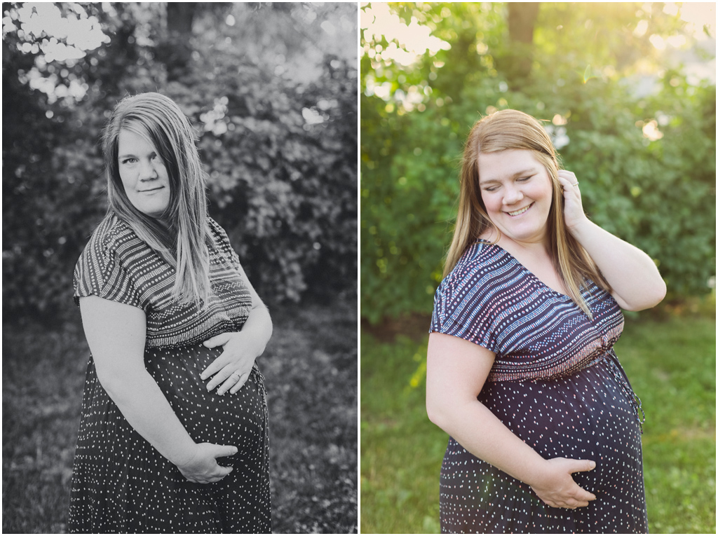 Backyard Maternity Session