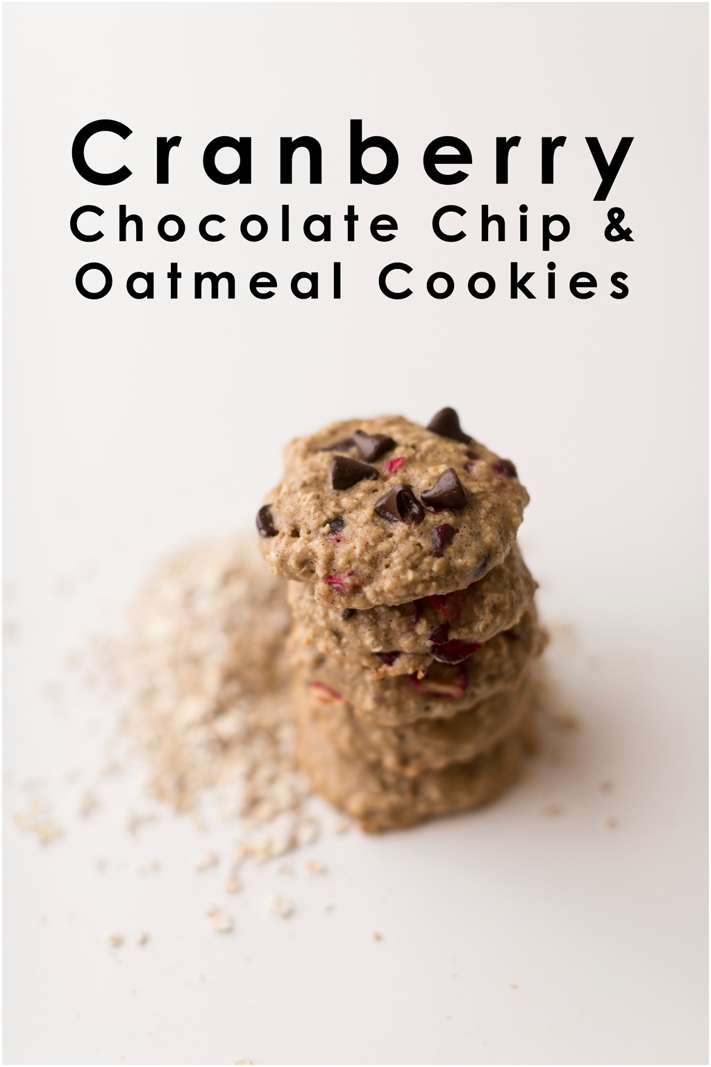 cranberry chocolate chip oatmeal cookie