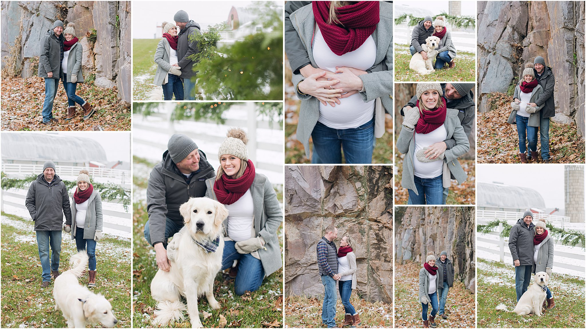 Caitlin Claire Studio Winter Maternity Photography